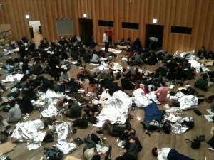 避難した人々