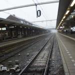 鉄道の線路(帰る途中)